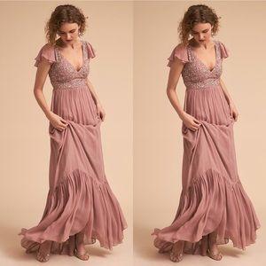 Anthropologie x BHLDN Daphne Embellished Dress